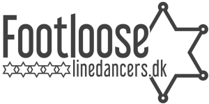 Logo for Footloose Linedancers - en linedanceklub i Herning-området.